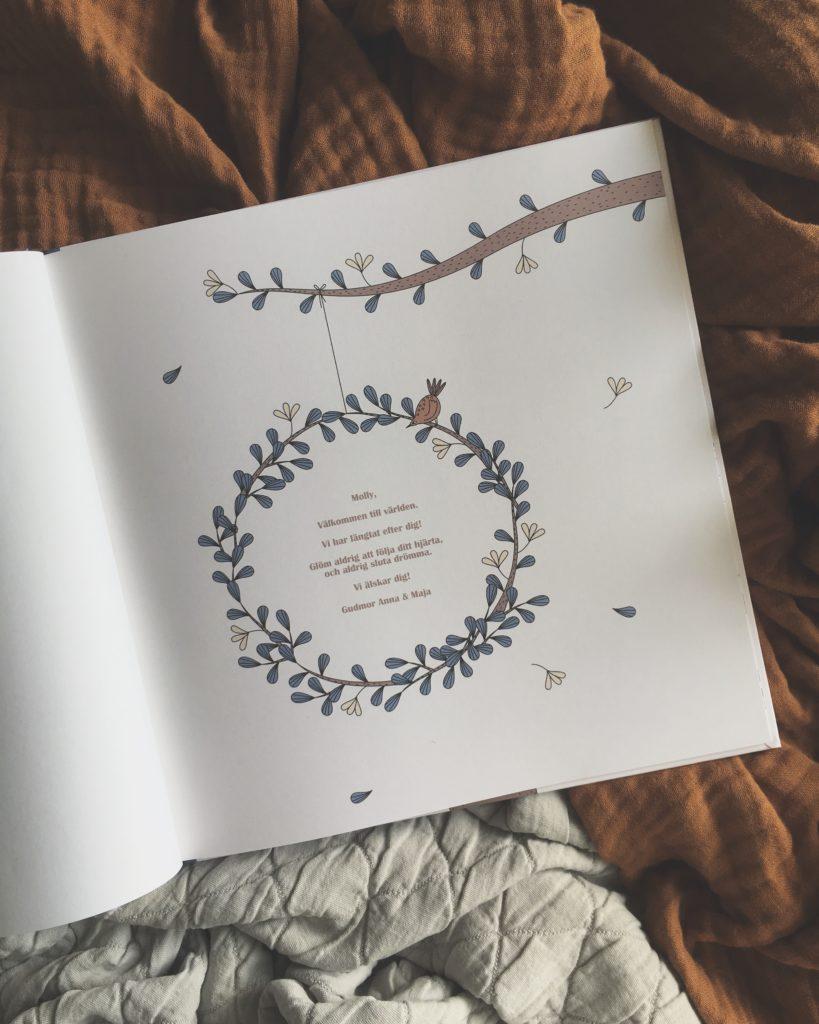 Personlig barnbok När storken kom med mig Personlig present Dopgåva Doppresent Namngivningspresent