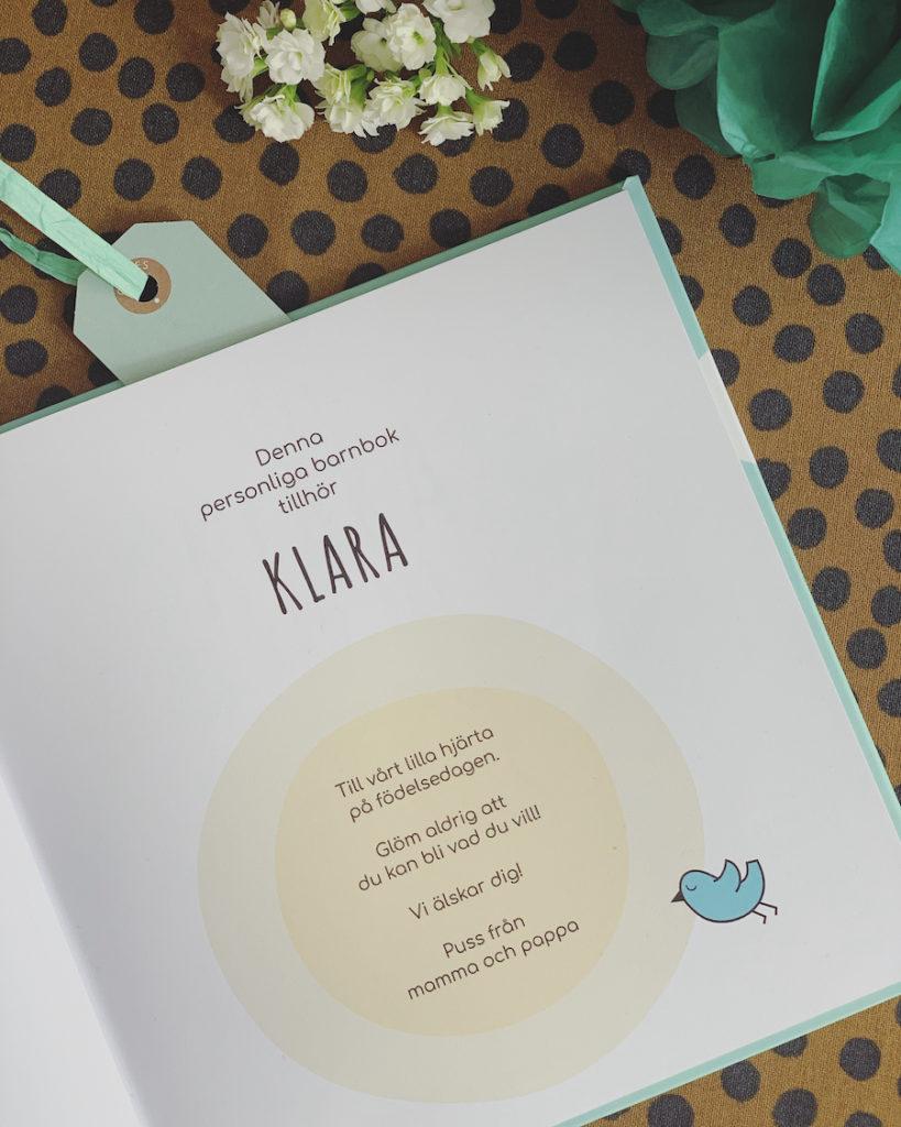 Personlig barnbok Allt jag kan bli Personlig hälsning Personlig present Personlig Dopgåva Doppresent Namngivningspresent Födelsedagspresent Julklapp Namnbok