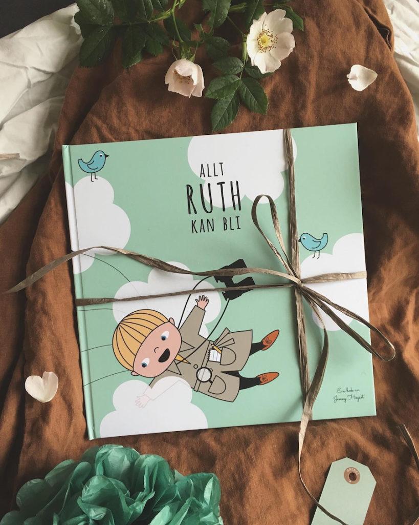 Personlig barnbok Allt jag kan bli Personlig present Namnbok Dopgåva Namngivningspresent